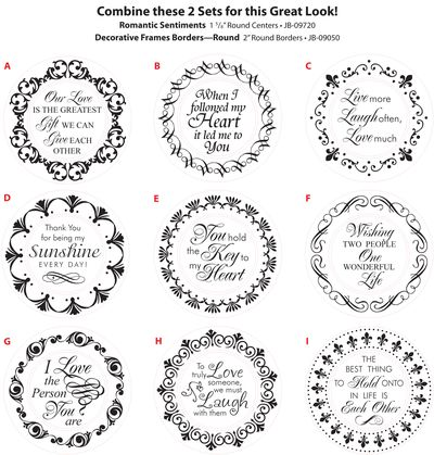 Circles and Romantic Sentiments Combined