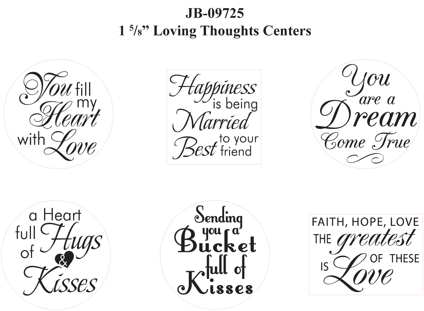 JR 09725 Loving Thoughts Centers