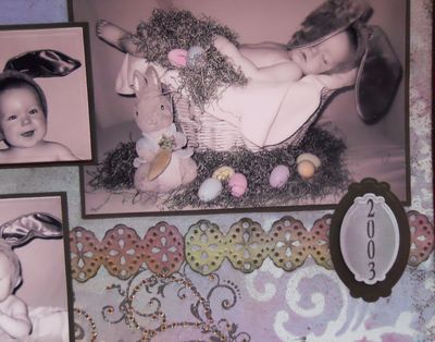 2nd Close Up of My First Easter Scrapbook page