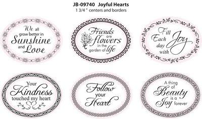 JB-09740 Joyful Hearts 1 3-4 Oval