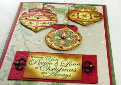 Side View of Ornament Card