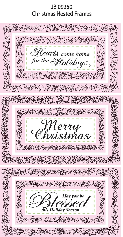 JB 09250 Christmas Nested Frames Art