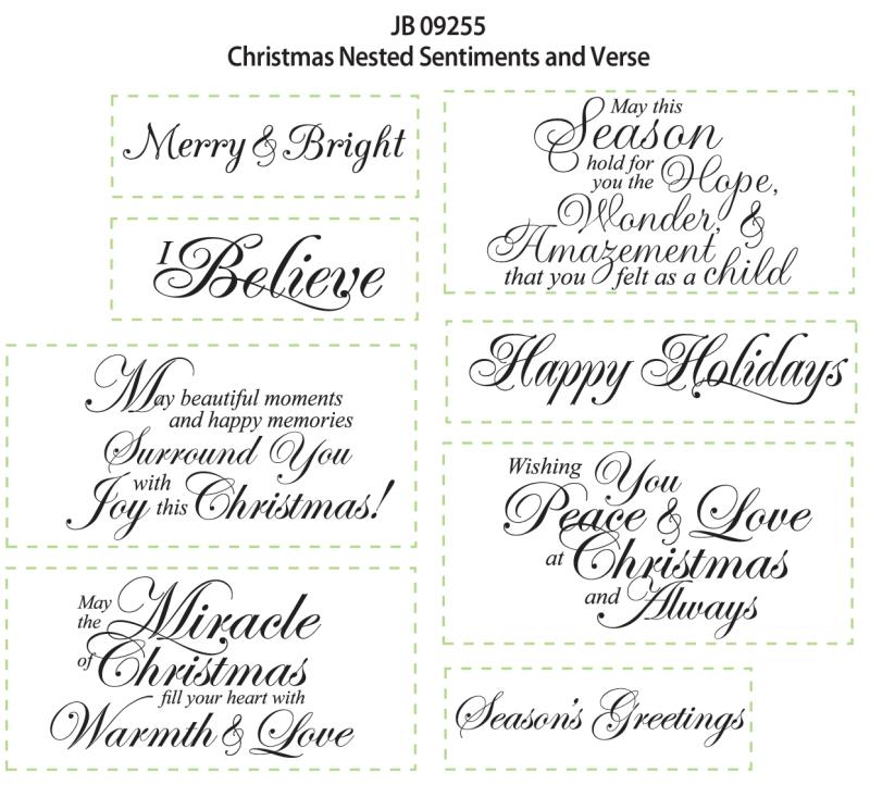 JB 09255 Christmas Sentiments