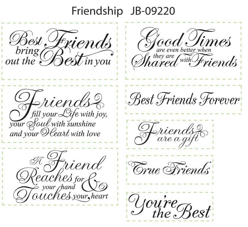 JB 09220 Friendship Sentiments  Art