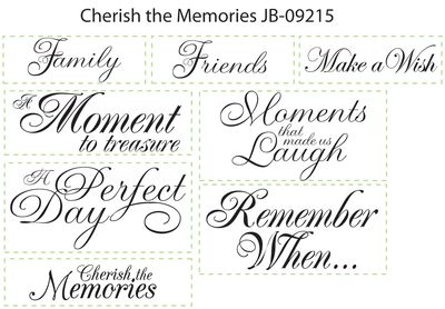 JB 09215 Cherish the Memories Sentiments