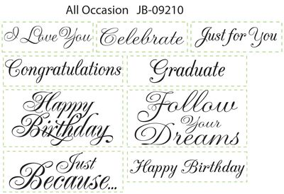 JB 09210 All Occasions Sentiments