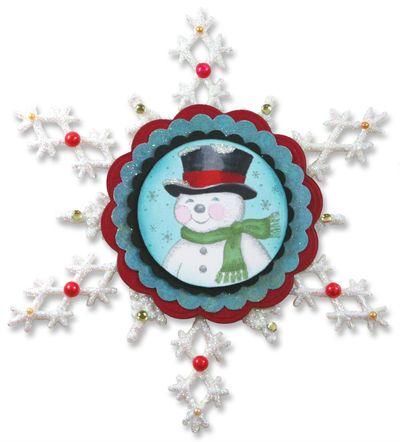 Vintage Snowman Snowflake