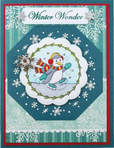 Whimsical Christmas Penguin