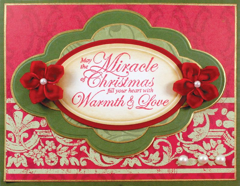 Christmas Sentiments May the Miracle of Christmas