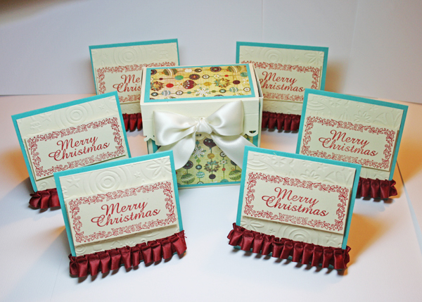 3-Merry Christmas Gift Cards and Box