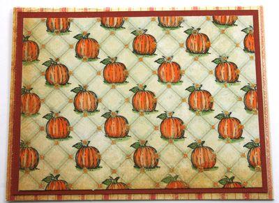 Background of Pumpkin Card