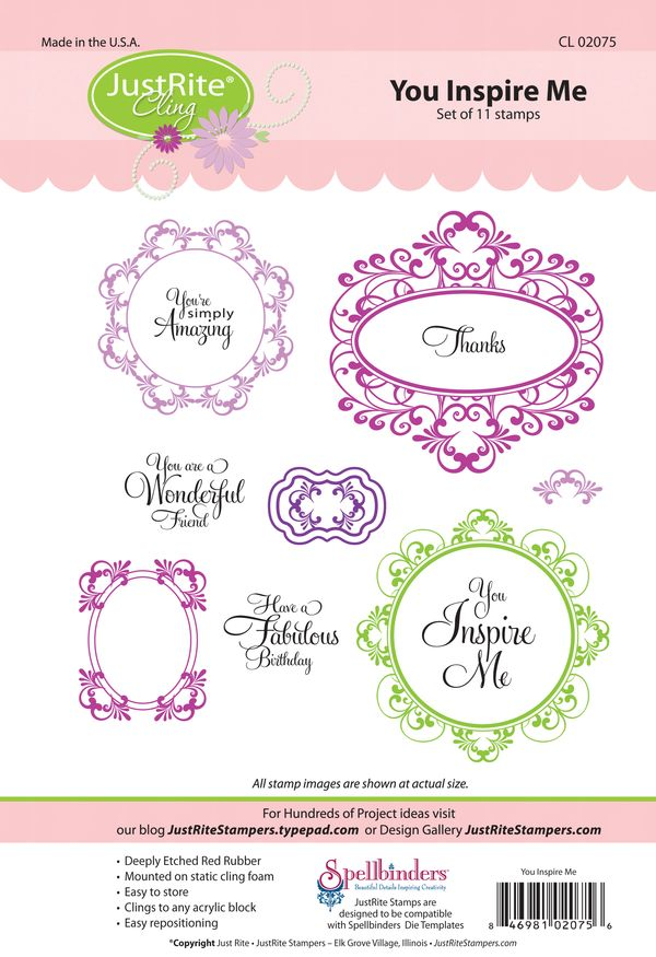 introducing you inspire me fancy tags cling justrite inspiration