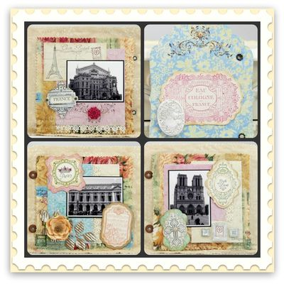 Mona Shabby Chic Labels Four Collage
