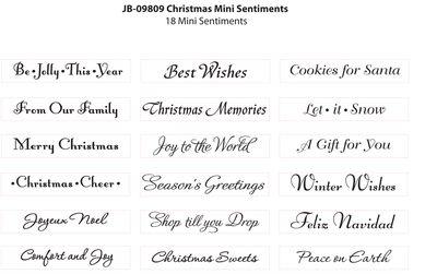 JB-09809 Christmas Mini Sentiments