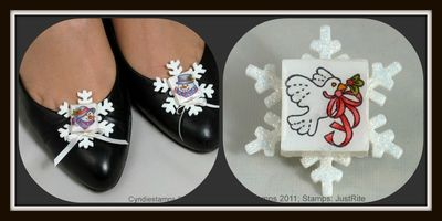 Cyndie Stamps Shoe Ornaments Collage