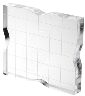 CL-03525-sm- 2.5 x 3 Acrylic Block with Grid and Grip