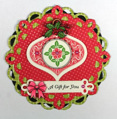 Deck the Halls Shaped card