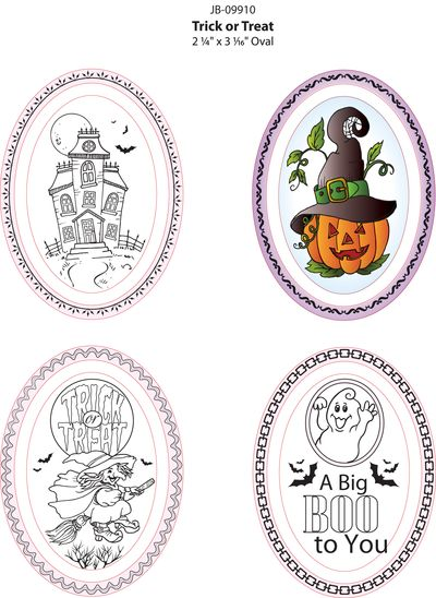 JB-09910 Trick or Treat Ovals colored image
