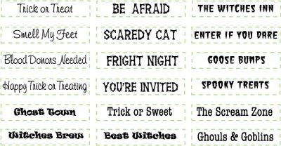 09808-lg Halloween Mini Sentiments