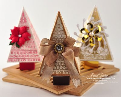 she has a fabulous video tutorial on how to make the christmas tree favor boxes using our o christmas tree stamp set from her release post - Christmas Tree Box