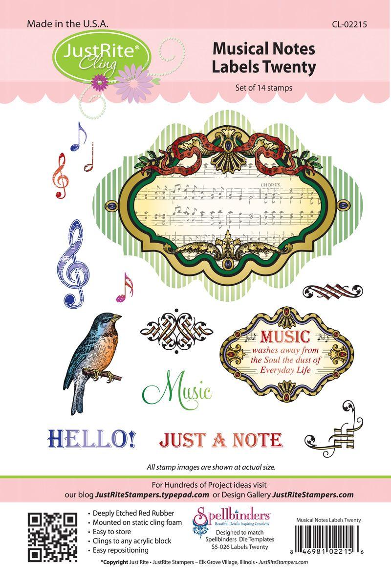 JR CL-02215 Musical Notes Labels Twenty (3)