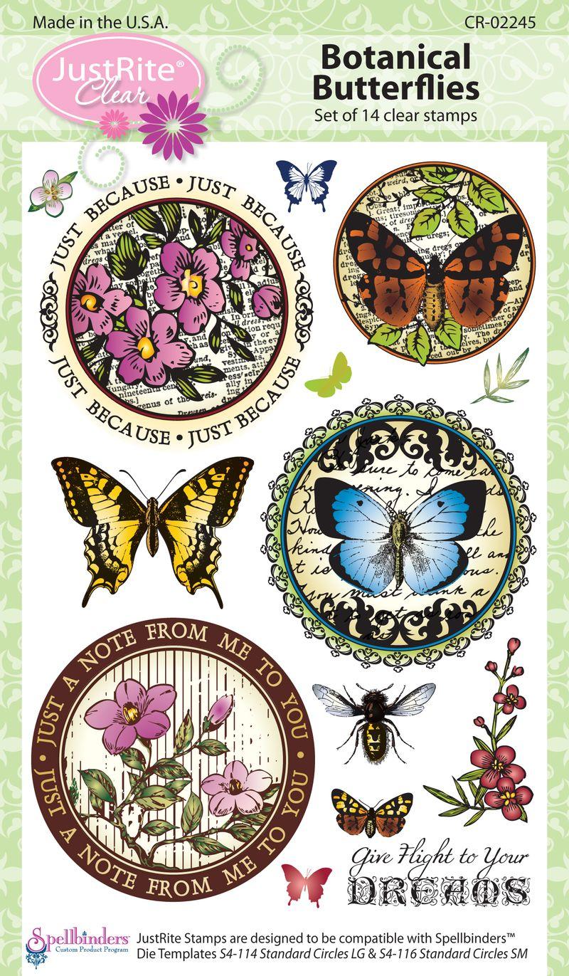 JR CR-02245 Botanical Butterflies