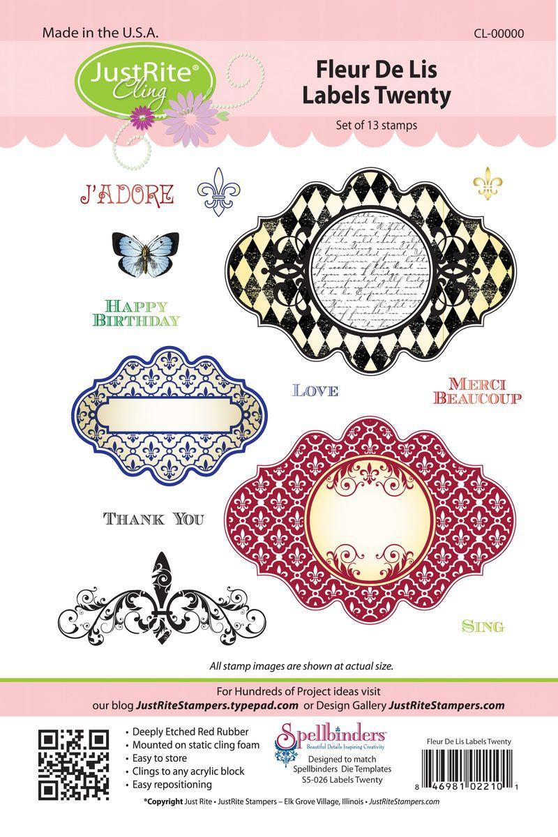 JR CL-02210 Fleur de lis Labels Twenty (3)