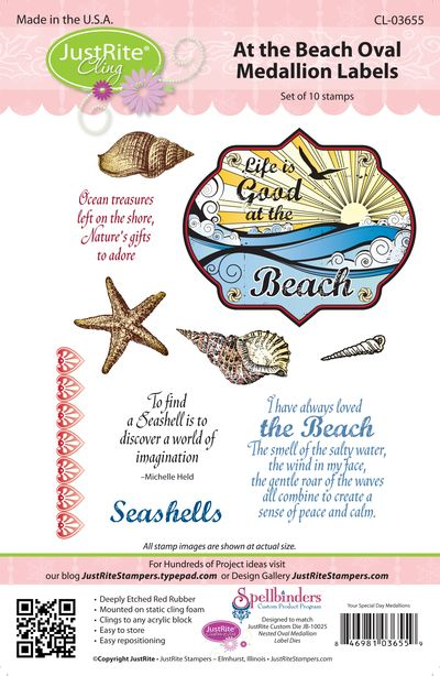 JR CL-03655 At Beach Oval Medallion Labels PACKAGE (2)