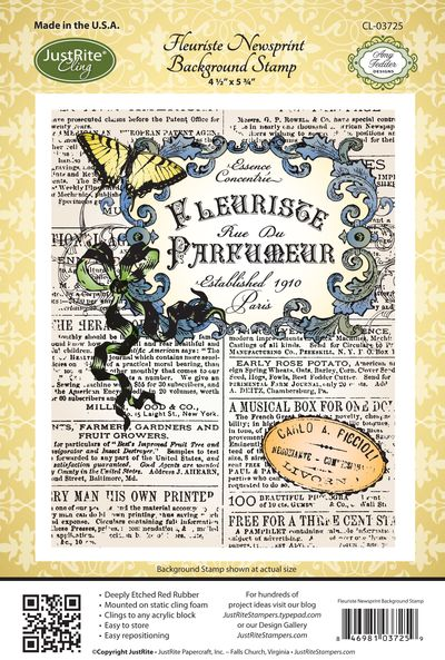 JR_ CL-03725_ Fleuriste_ Newsprint_ Background
