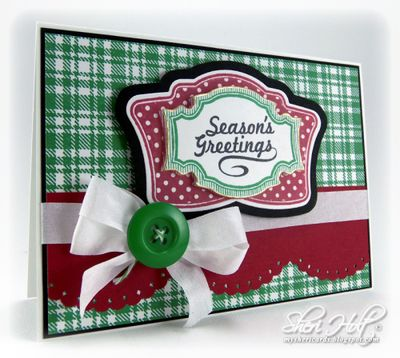 Christmas Vintage Labels One Christmas card designed by Sheri Holt