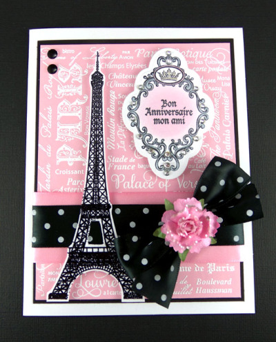 Paris Background Stamp Sheri Holt