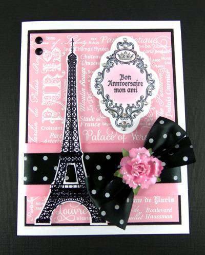 Paris Background Stamp Sheri Holt