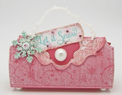 Snowfall Background Stamp Barb Handbag