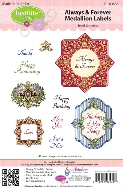JR CL-03535 Always & Forever Medallion Labels PACKAGE (2)