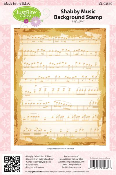JR CL-03560 Shabby Music BKGD PACKAGE