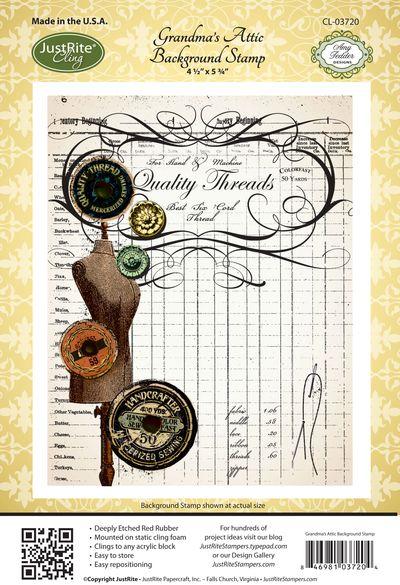 JR_ CL-03720_ Grandmas_ Attic _Background _Stamp
