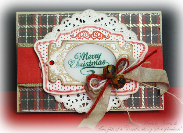 Christmas Vintage Labels One Christmas card designed by Michele Kovack