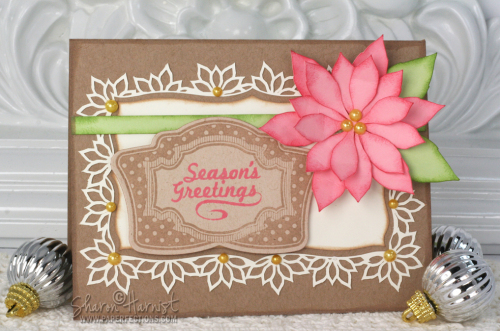 Christmas Vintage Labels card designed by Sharon Harnist