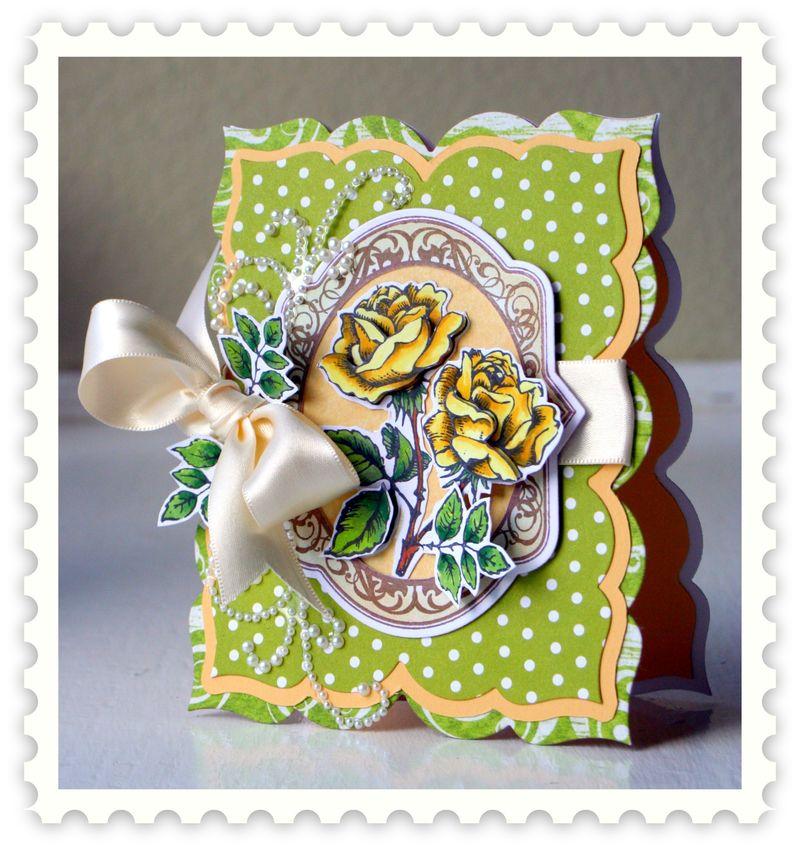 Kazan Clark Rose Stamp (3)