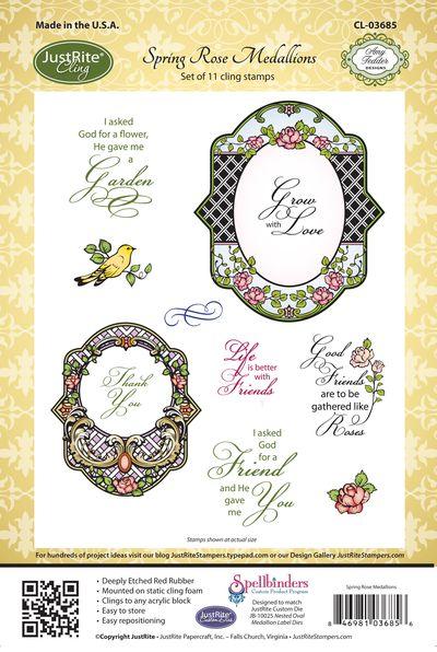 JR_ CL-03685_ Spring_ Rose _Medallions_ CLING