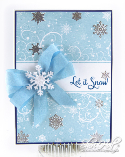 Snowflake Background Stamp designed by Sheri Holt