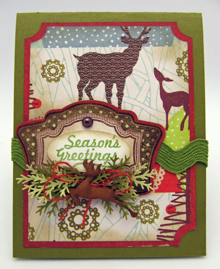 Christmas Vintage Labels One Reindeer Christmas designed by Barb Schram