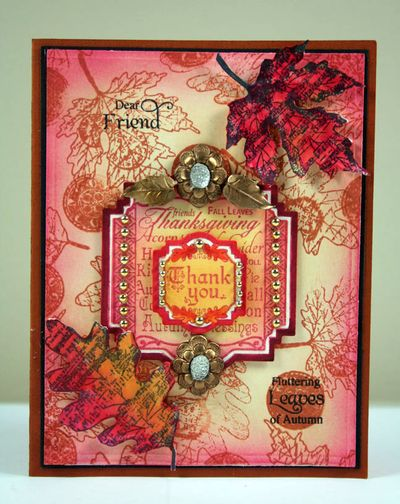 Shabby Chic Autumn Leaves Kellie
