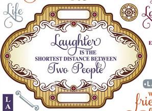 Large Label Live Love Laugh