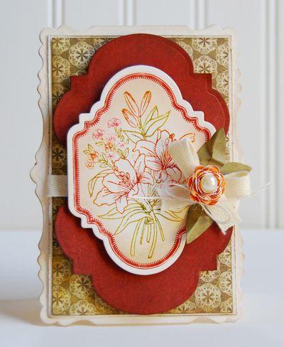 FLoral Vintage Labels water color bouquet Michele Kovack
