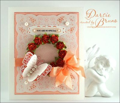 Darsie Bruno  Lace background Card