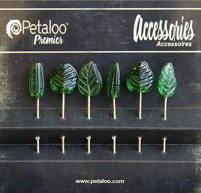 Green Glass Ornament Pins Item1475-009_jpg