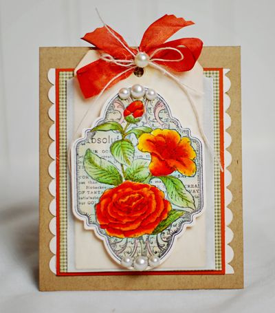 Grateful Heart Vintage Labels Two - Orange Lilies designed by Michele Kovack