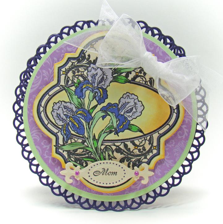 Angela Barkhouse Irises Vintage Labels Four