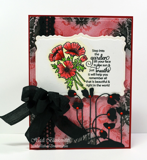 Poppies Card designed by Heidi Blankenship